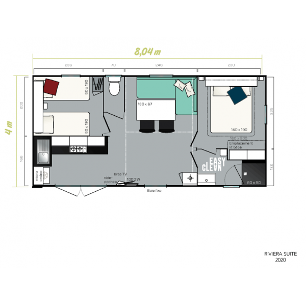 Mobil Home IRM Riviera Suite - 2 chambres - 2020