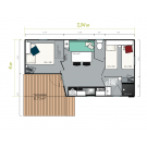 Mobil Home IRM Loggia Compact - 2 chambres - 2020