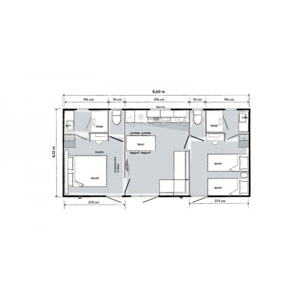 Mobil Home O'HARA 865 2 chambres 2 SDB - 2021