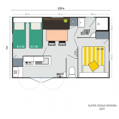 Mobil Home IRM Super Venus Riviéra - 2 chambres - 2021